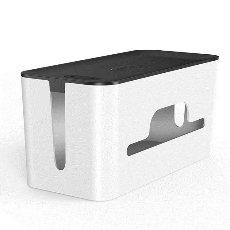 電線收納盒排插理線盒插座充電線電源線箱盒電腦線桌面集線盒