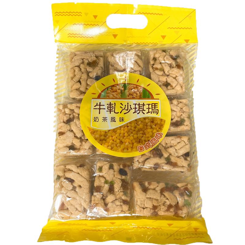 苔航牛軋沙琪瑪300g-奶茶風味(12入)/箱 【康鄰超市】