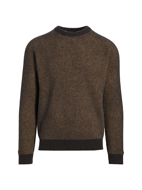 COLLECTION Contrast Rib-Knit Crew Sweater