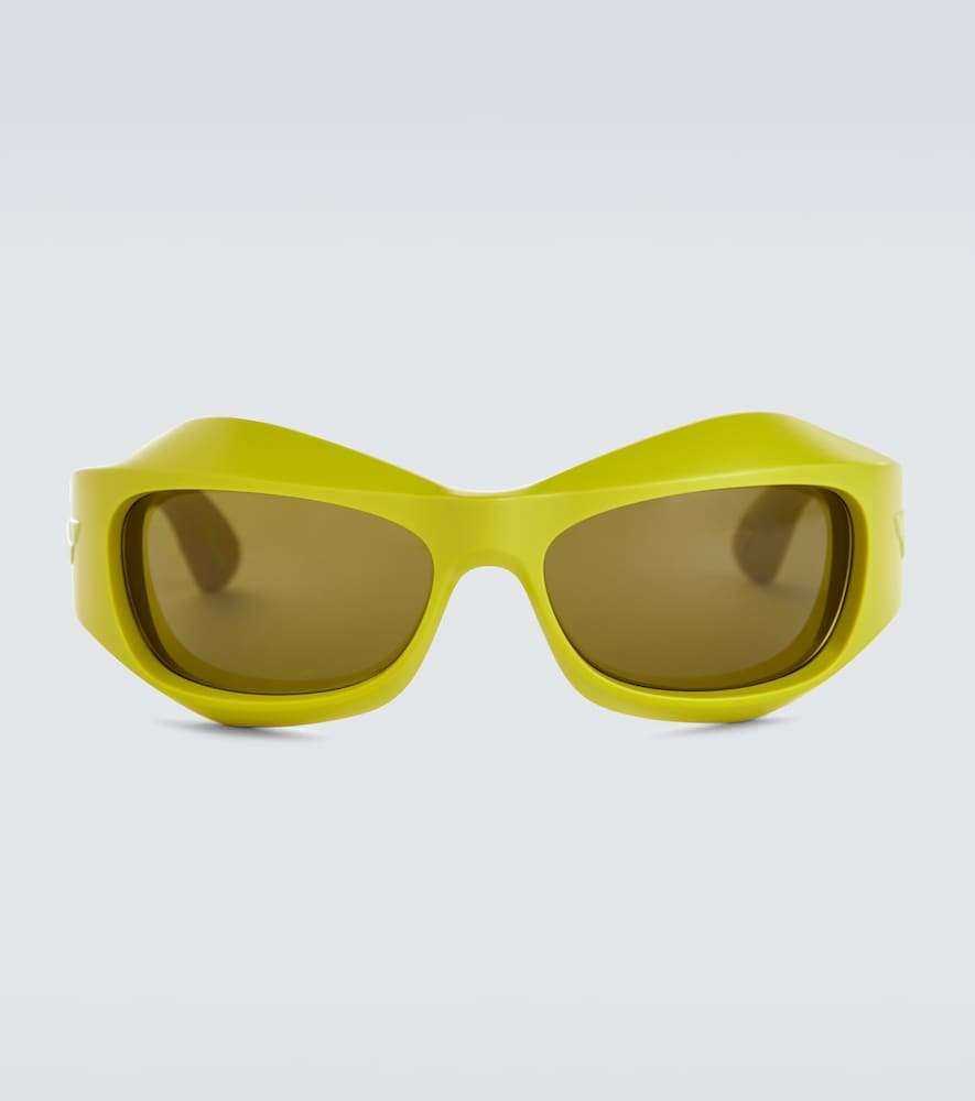 Wrap-around acetate sunglasses