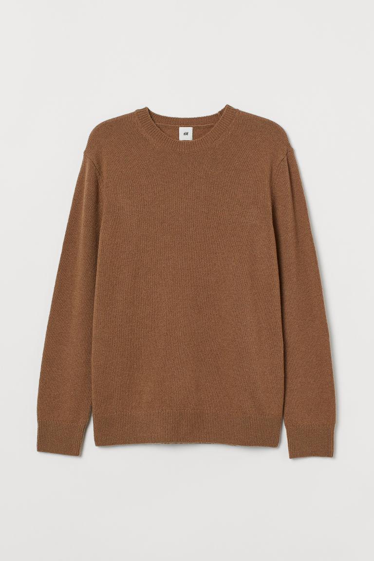 H & M - 小羊毛針織套衫 - 米黃色