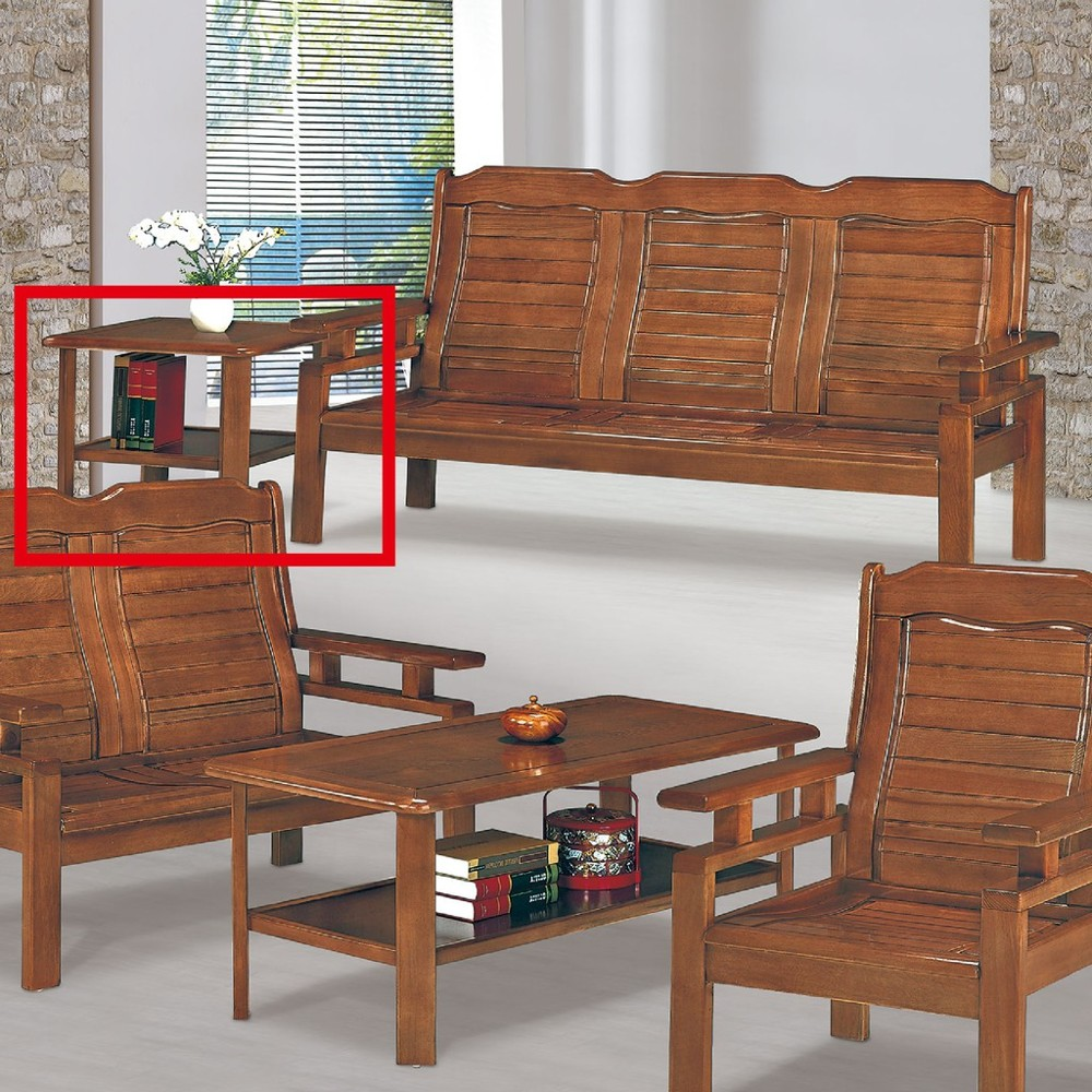 61cm小茶几-c629-6實木原木玻璃 大理石長方桌 大小邊几 圓桌  金滿屋