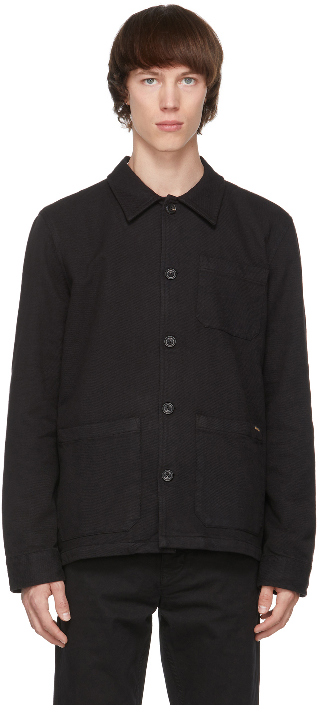 Nudie Jeans 黑色 Barney Worker 有机棉夹克