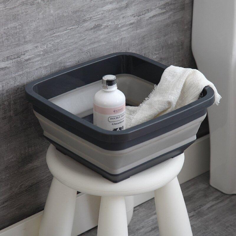 折疊盆便攜式家用旅行洗臉盆壓縮盆伸縮盆折疊水桶旅游可折疊水盆