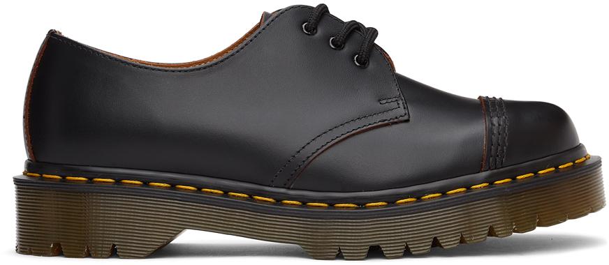 Dr. Martens 黑色 1461 Bex Cap Toe 英产德比鞋
