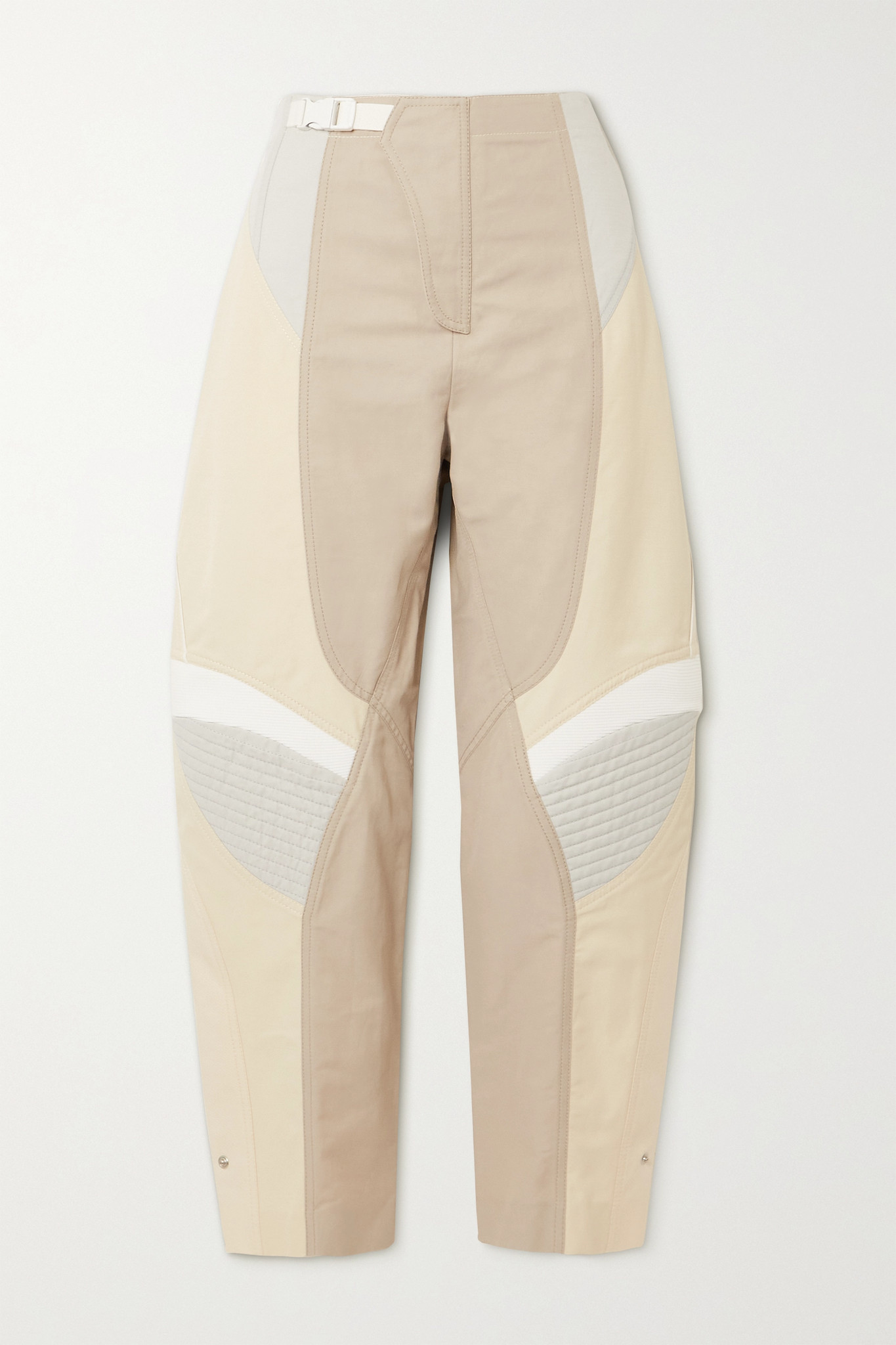 STELLA MCCARTNEY - Brooke Color-block Paneled Twill Tapered Pants - Neutrals - IT34