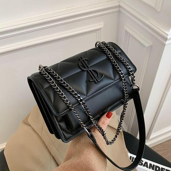 斜背包/側背包 今年超火的小包包女2020流行新款潮韓版百搭質感斜挎包時尚鏈條包