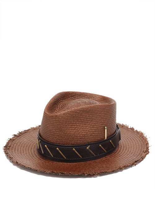 Nick Fouquet - Mole Straw Panama Hat - Mens - Brown