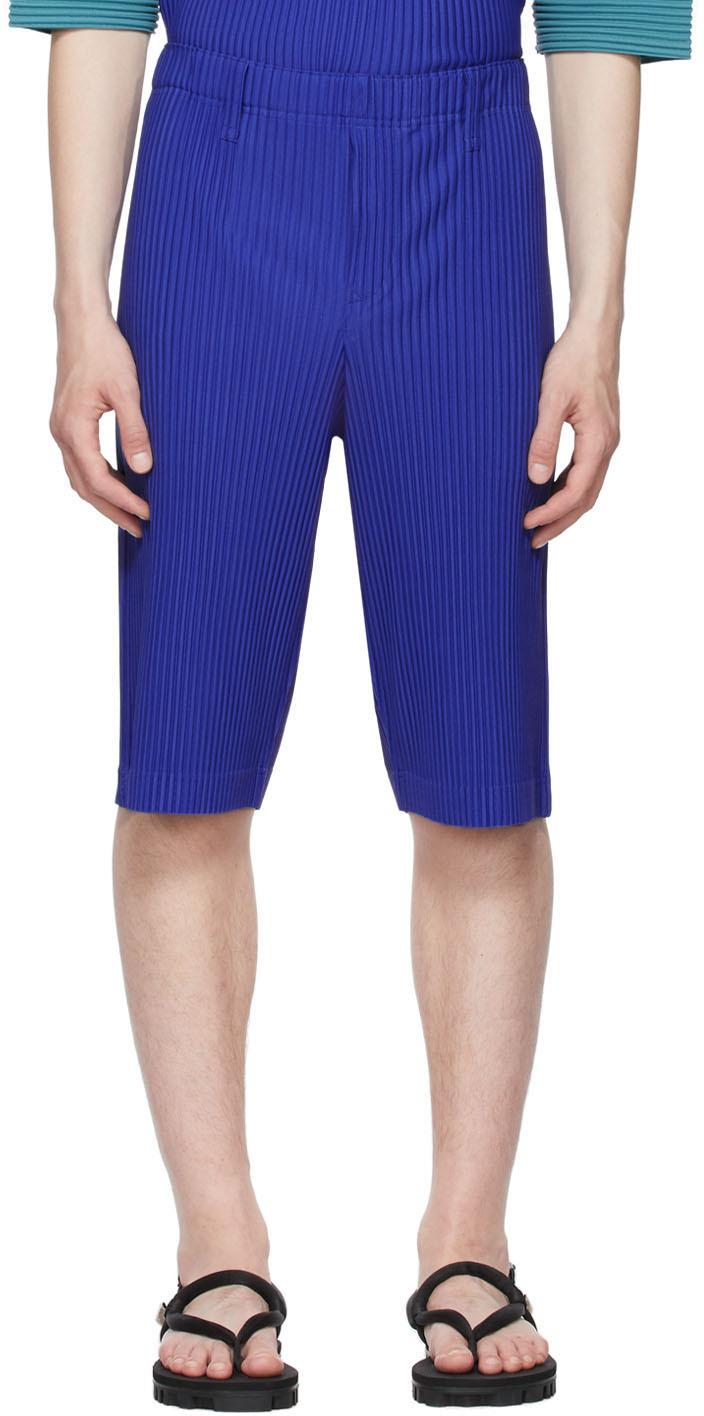 Homme Plissé Issey Miyake 蓝色 Monthly Color April 长裤