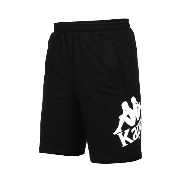 KAPPA 男針織短褲(純棉 台灣製 休閒 五分褲≡體院≡ 381772W-005