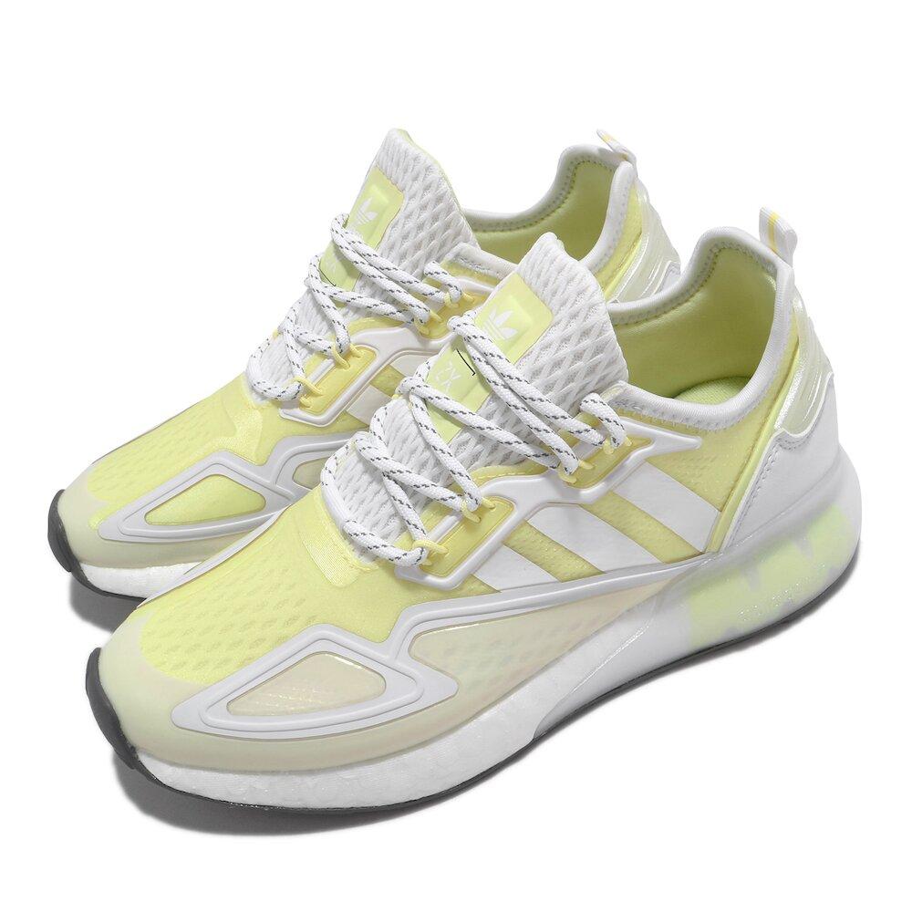 ADIDAS 休閒鞋 ZX 2K BOOST 運動 女鞋 愛迪達 輕量 透氣 舒適 避震 穿搭 黃 白 [GX2711]