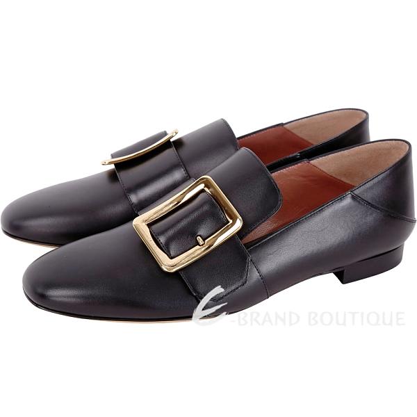 [ NG大放送 ]BALLY JANELLE 鞋底污 黑色皮革樂福鞋(38.5號/女款) 1890061-01