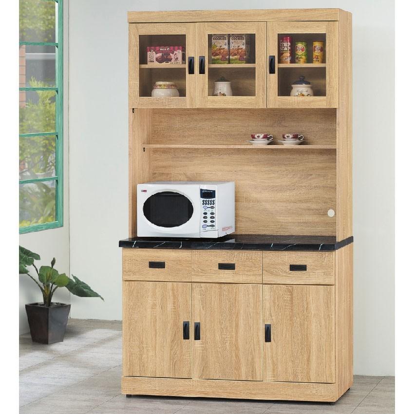 121cm餐櫃-e709-6伸縮餐桌櫃  尺餐櫃收納 廚房櫃 餐櫥碗盤架 中島大理石 金滿屋