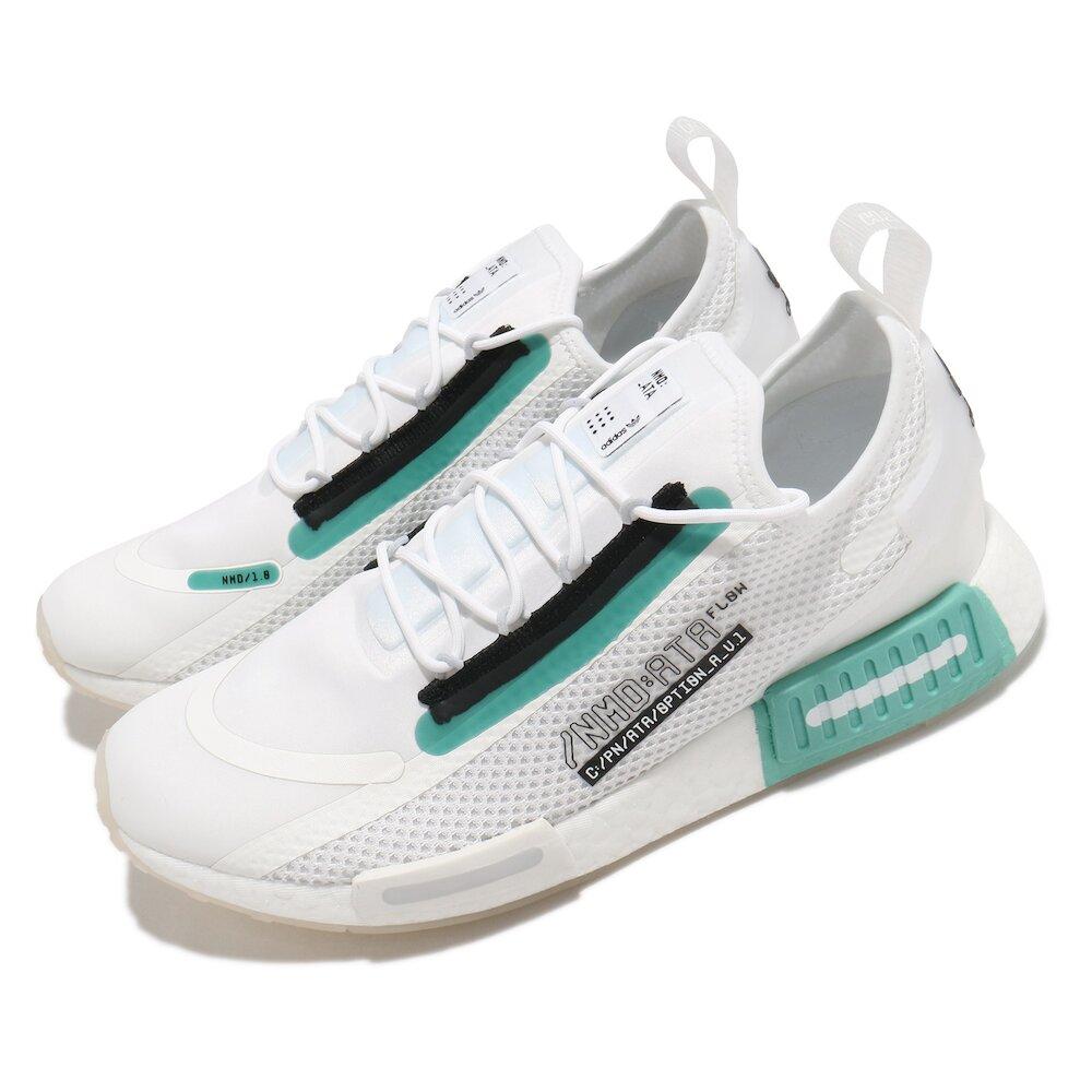 ADIDAS 休閒鞋 NMD_R1 Spectoo 男女鞋 愛迪達 襪套 輕量 舒適 情侶穿搭 簡約 白 藍 [FZ3628]