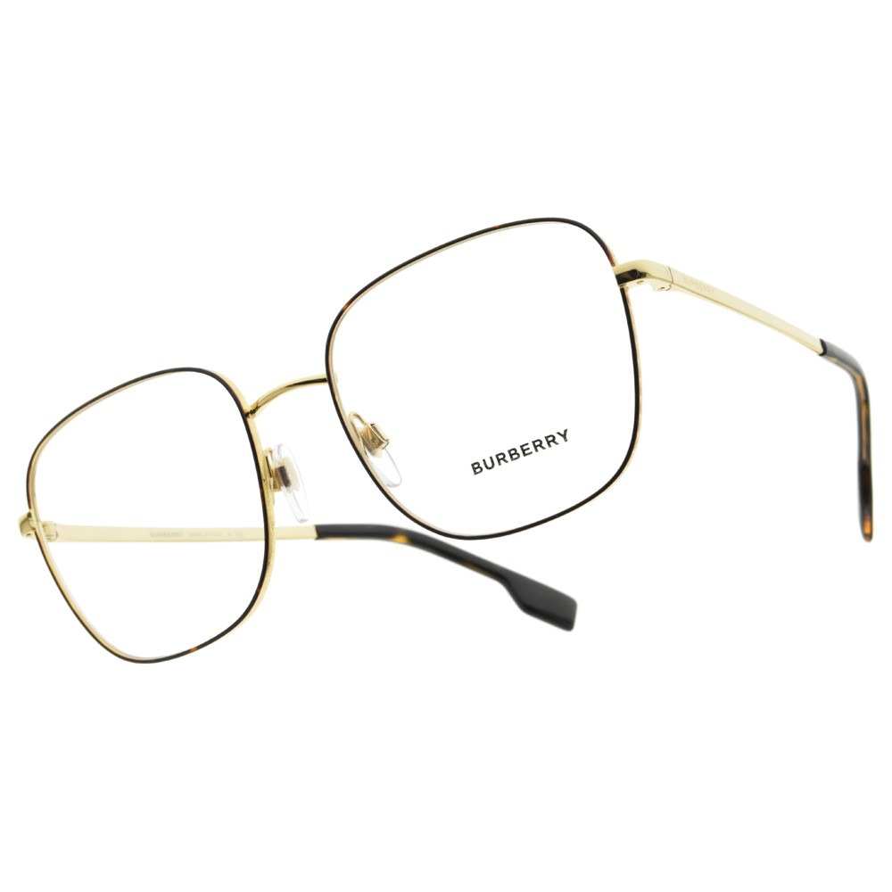BURBERRY 光學眼鏡 B1347 1308 復古奢華LOGO邊框 眼鏡 - 金橘眼鏡