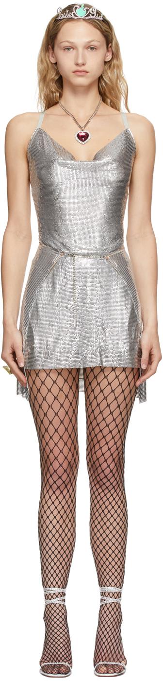 Poster Girl SSENSE 独家发售银色 Adrianne 连衣裙