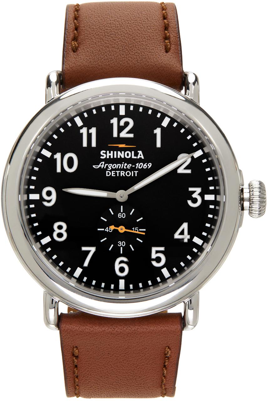 Shinola 银色 & 灰色 The Runwell 47mm 手表
