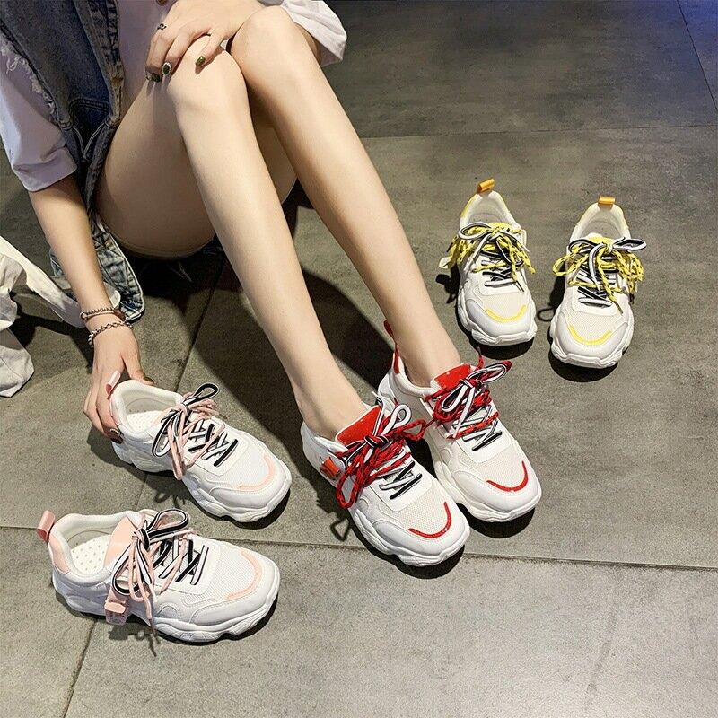 2021春新款運動鞋女韓版學生原宿老爹鞋女ins街拍休閒鞋女K05老爹