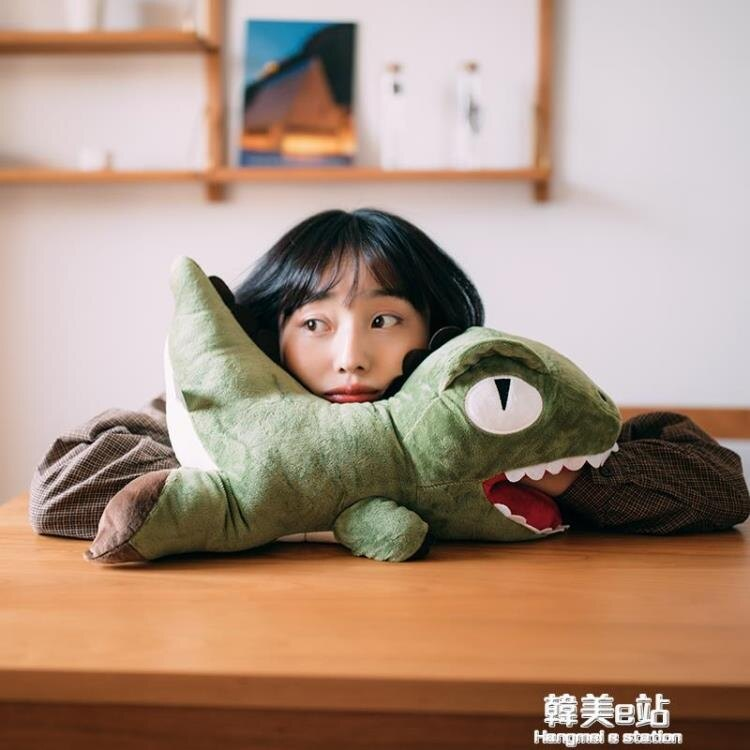 恐龍暖手捂抱枕玩偶創意公仔毛絨玩具布娃娃午睡枕可愛禮物送女孩