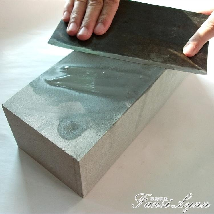 加大號磚頭型磨刀石家用天然雙面粗細一樣磨菜刀開刃油石青石原石 優尚良品