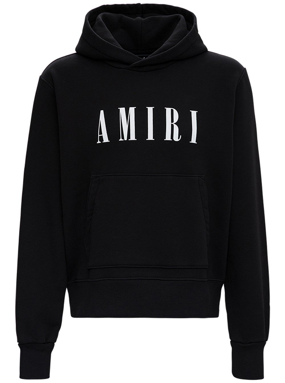 Black Jersey Hoodie with Logo
