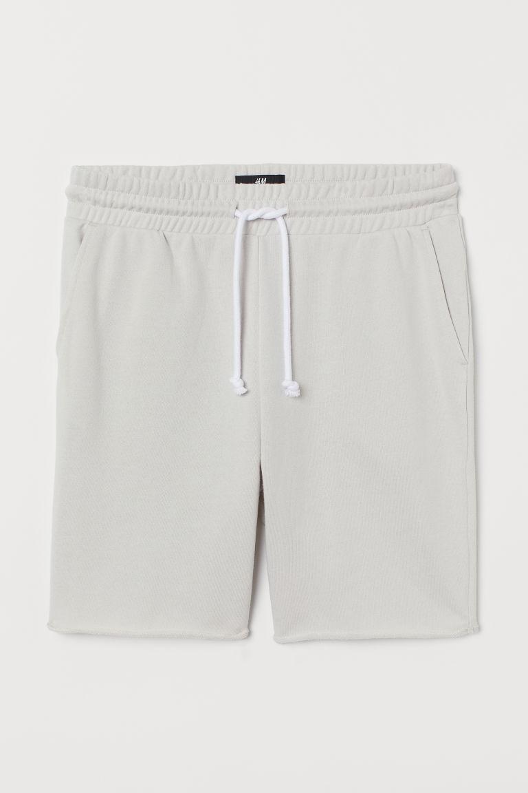 H & M - 合身運動短褲 - 灰色