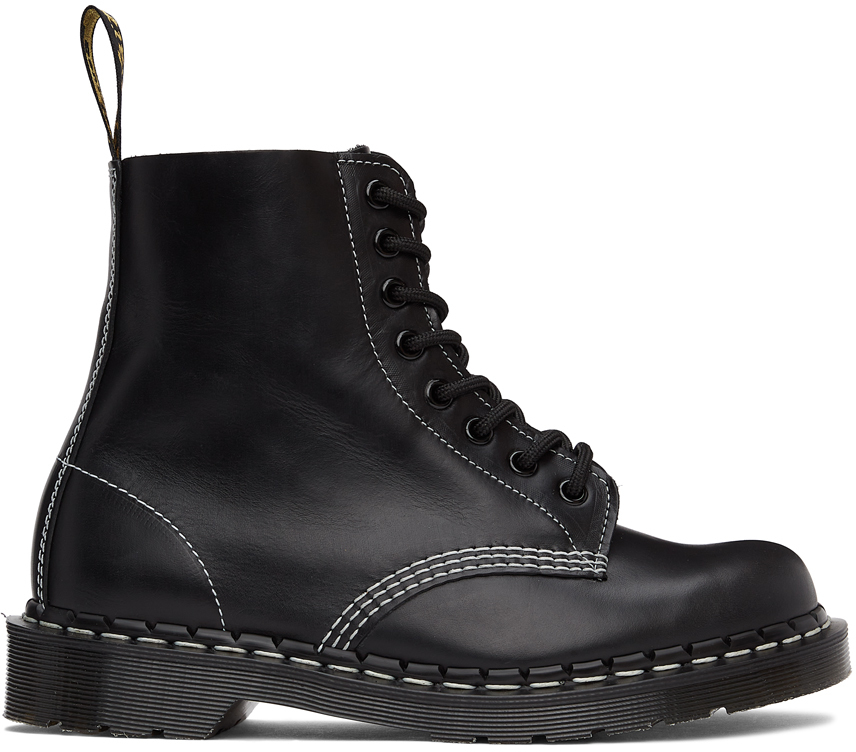 Dr. Martens 黑色 Horween 系列 1460 Pascal 英产踝靴