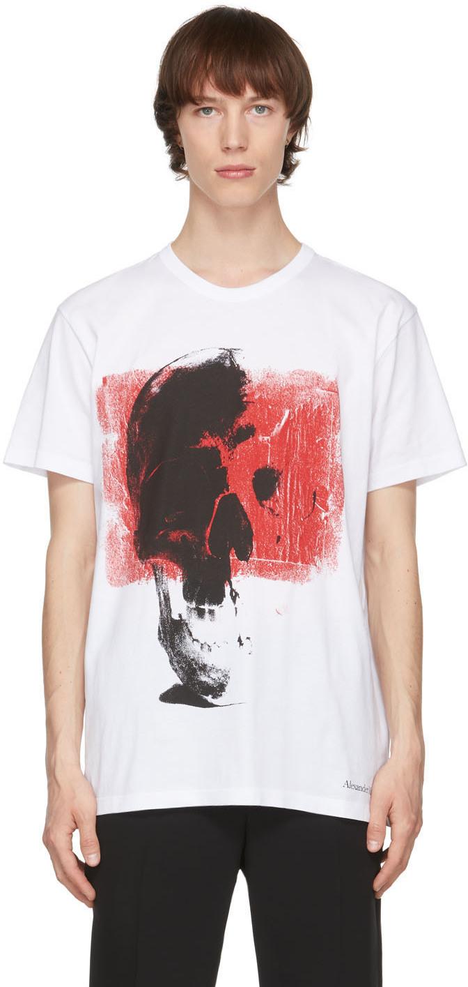 Alexander McQueen 白色 Punk Skull 大廓形 T 恤