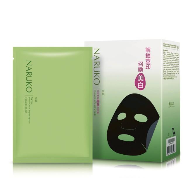 NARUKO茶樹神奇美白黑面膜5入
