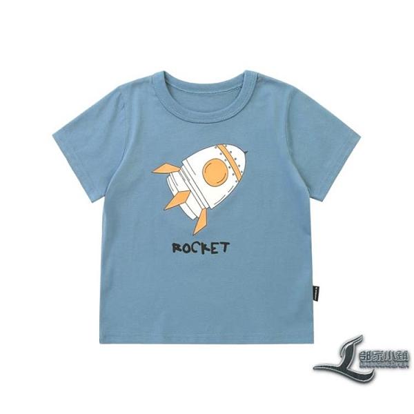 男童純棉印花短袖T恤夏裝兒童裝寶寶上衣小童【邻家小鎮】
