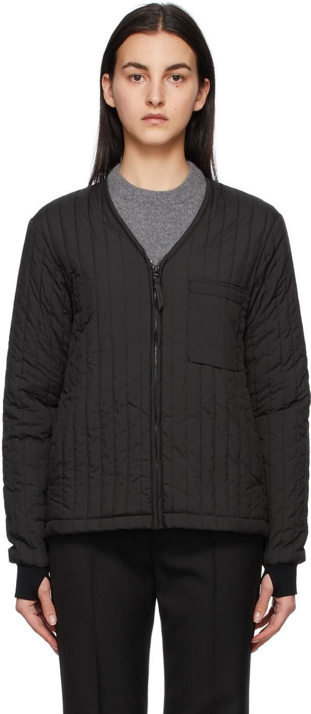 RAINS 黑色 Liner 夹克