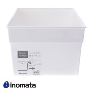 日本 inomata 多功能儲物收納盒 白色 Wide款 型號4666