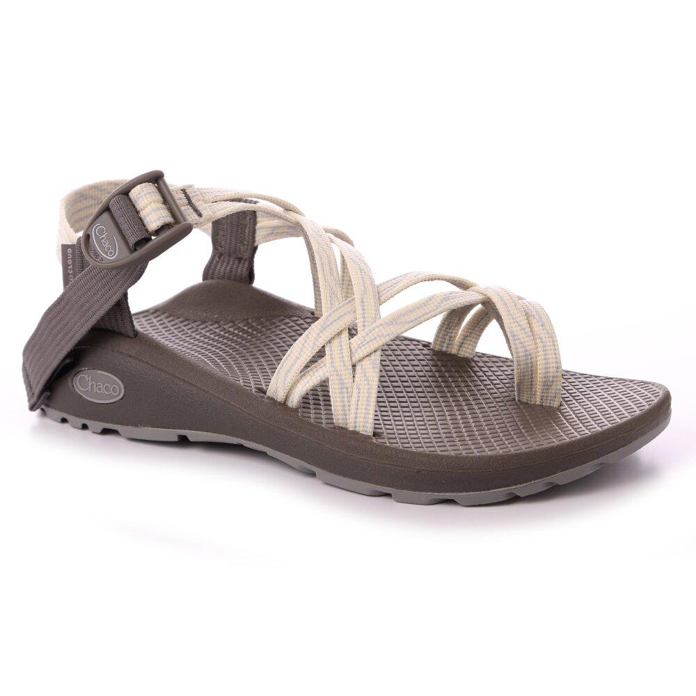 美國Chaco。女 越野舒壓運動涼鞋-雙織夾腳款CH-ZLW04HH12 (乳白蛇紋)