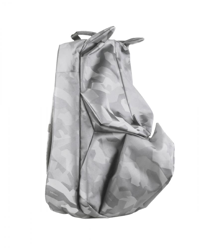 ORIBAGU 摺紙包_銀迷彩犀牛 後背包