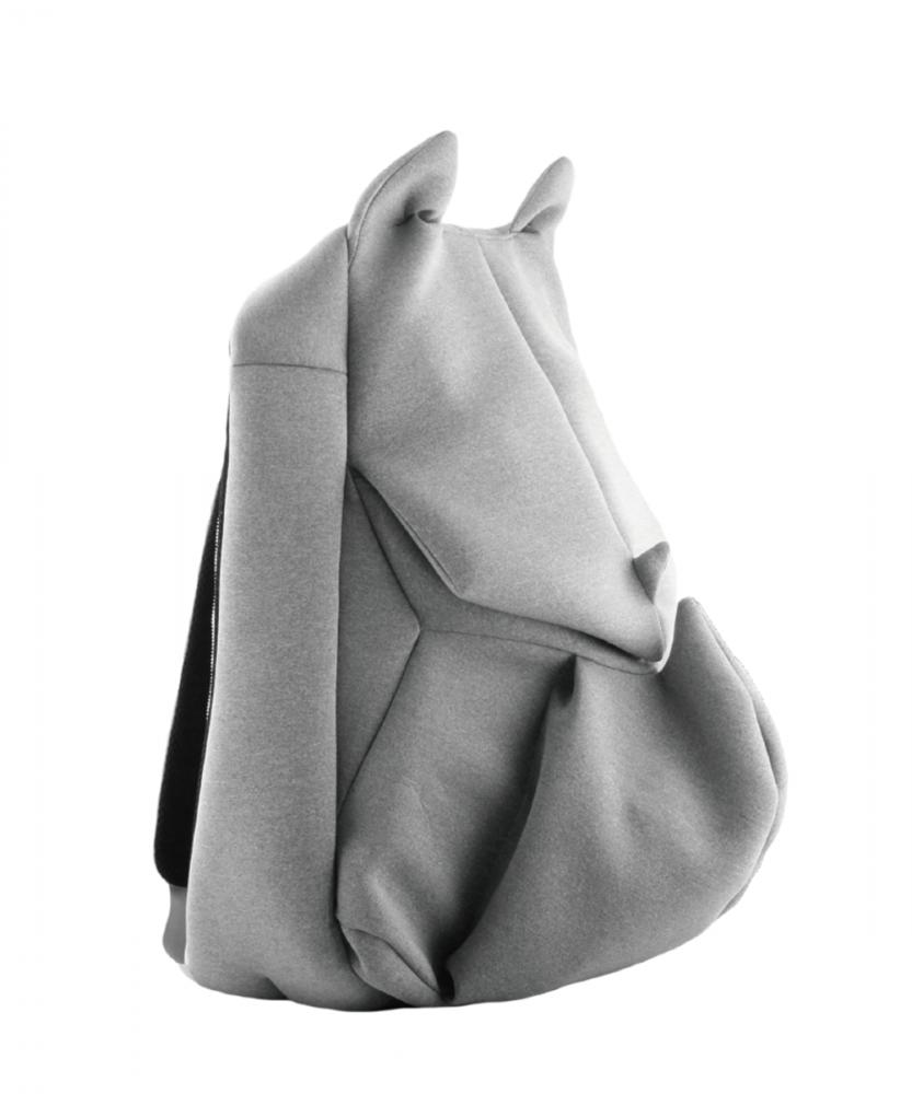 ORIBAGU 摺紙包_小灰犀牛 後背包