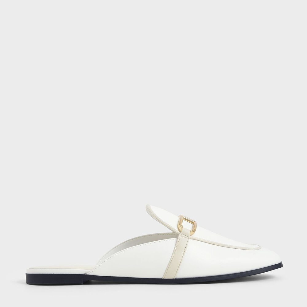 金屬釦穆勒鞋