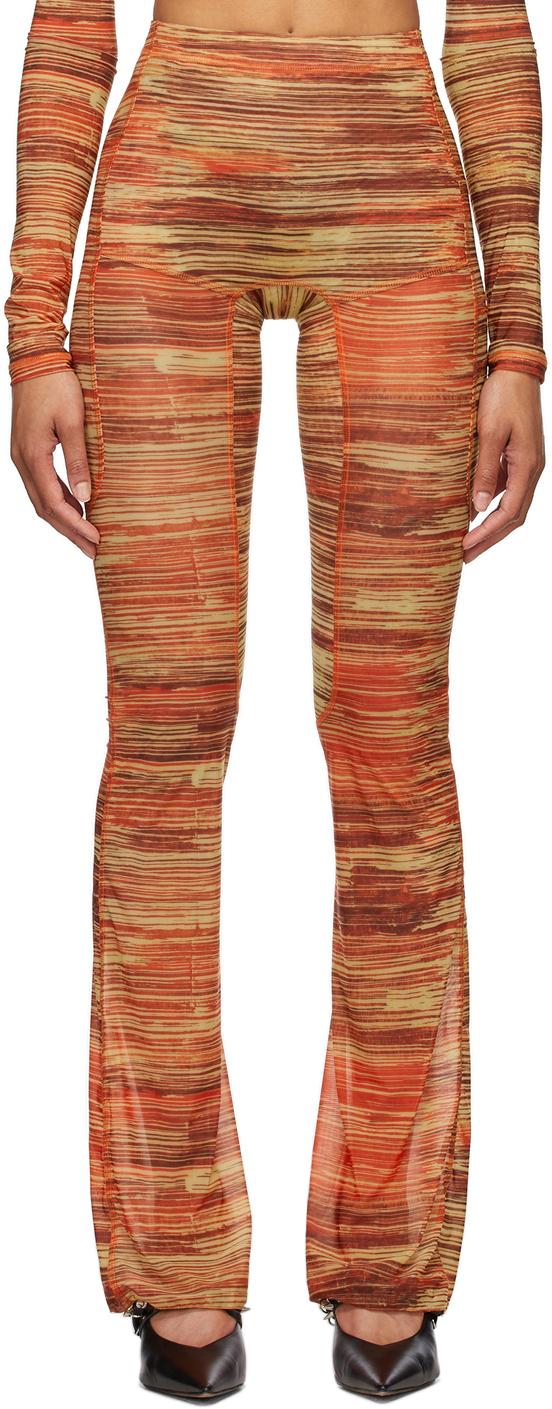 Charlotte Knowles 红色 Halcyon 喇叭裤