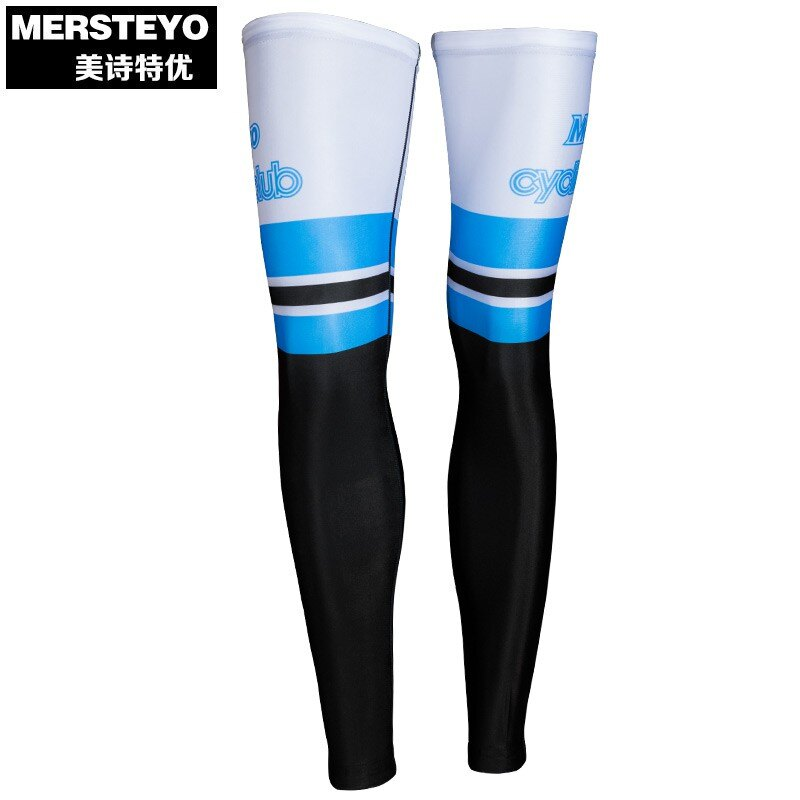 mersteyo 夏季防紫外線防曬透氣騎行腿套護膝 男女運動腿套防擦傷1 愛尚優品