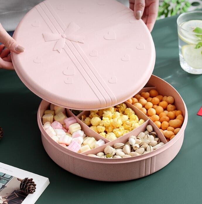 乾果盤 北歐果盤家用創意現代客廳茶幾干果瓜子盤收納盒塑料零食盤糖果盒 歌莉婭