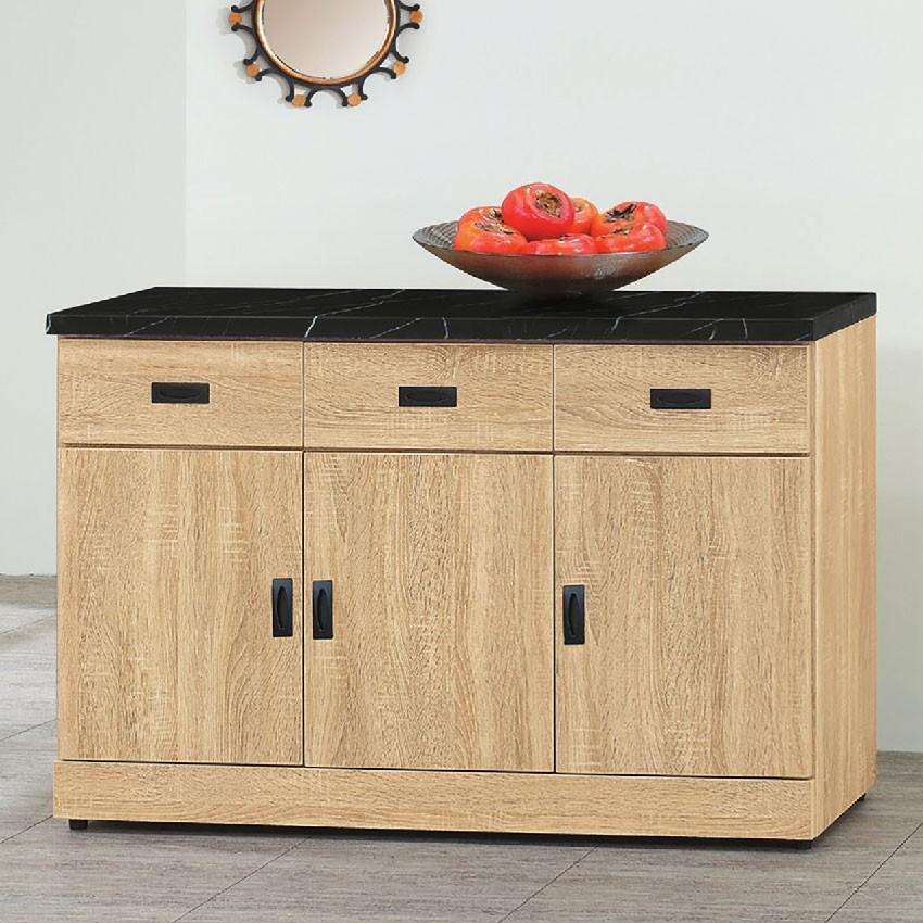 121cm餐櫃下座-e709-3伸縮餐桌櫃  尺餐櫃收納 廚房櫃 餐櫥碗盤架 中島大理石 金滿屋