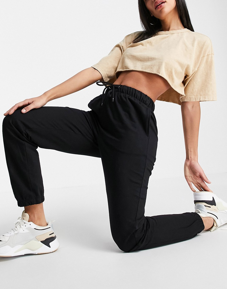 Brave Soul krista high waisted joggers-Black