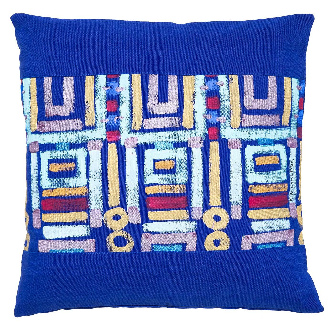 Acrylic Hand Painted Outdoor Cushion 40x40 cm
