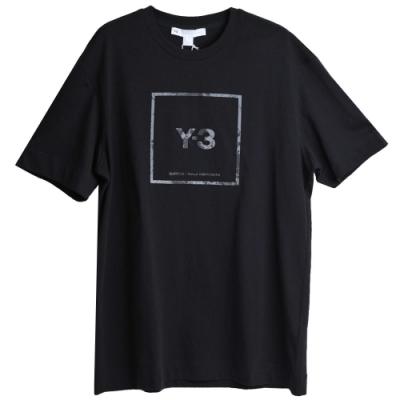 Y-3 U SQUARE SS TEE 品牌反光方形LOGO圖騰山本耀司圓領T恤(黑/GV6060)