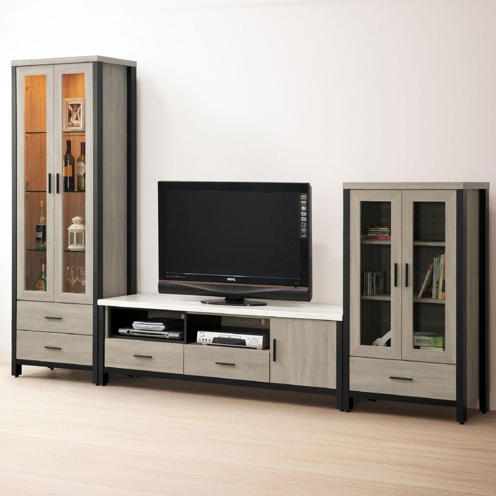 294cm高低櫃-c692-1客廳組合長櫃 展示收納櫃 北歐工業風 tv櫃 金滿屋