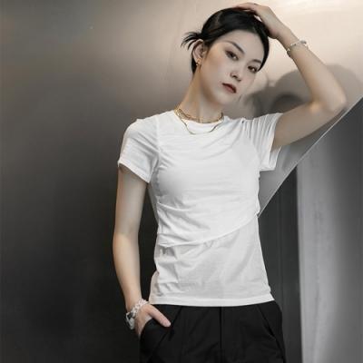 設計所在Style-韓版修身素色心機顯瘦圓領短袖T恤