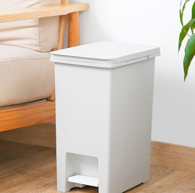 垃圾桶 家用帶蓋腳踩腳踏衛生間廁所客廳廚房有蓋北歐風分類垃圾桶 流行花園