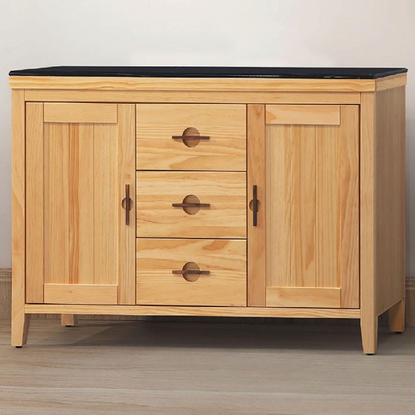 120cm黑石餐櫃下座-e702-6伸縮餐桌櫃  尺餐櫃收納 廚房櫃 餐櫥碗盤架 中島大理石 金滿