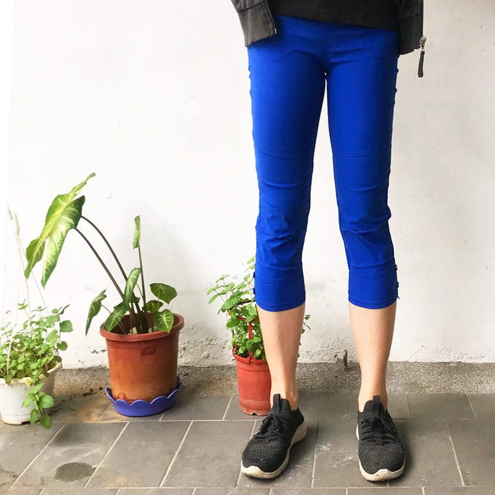 YAKPAK 涼感排汗降溫中大尺碼七分褲(6色)