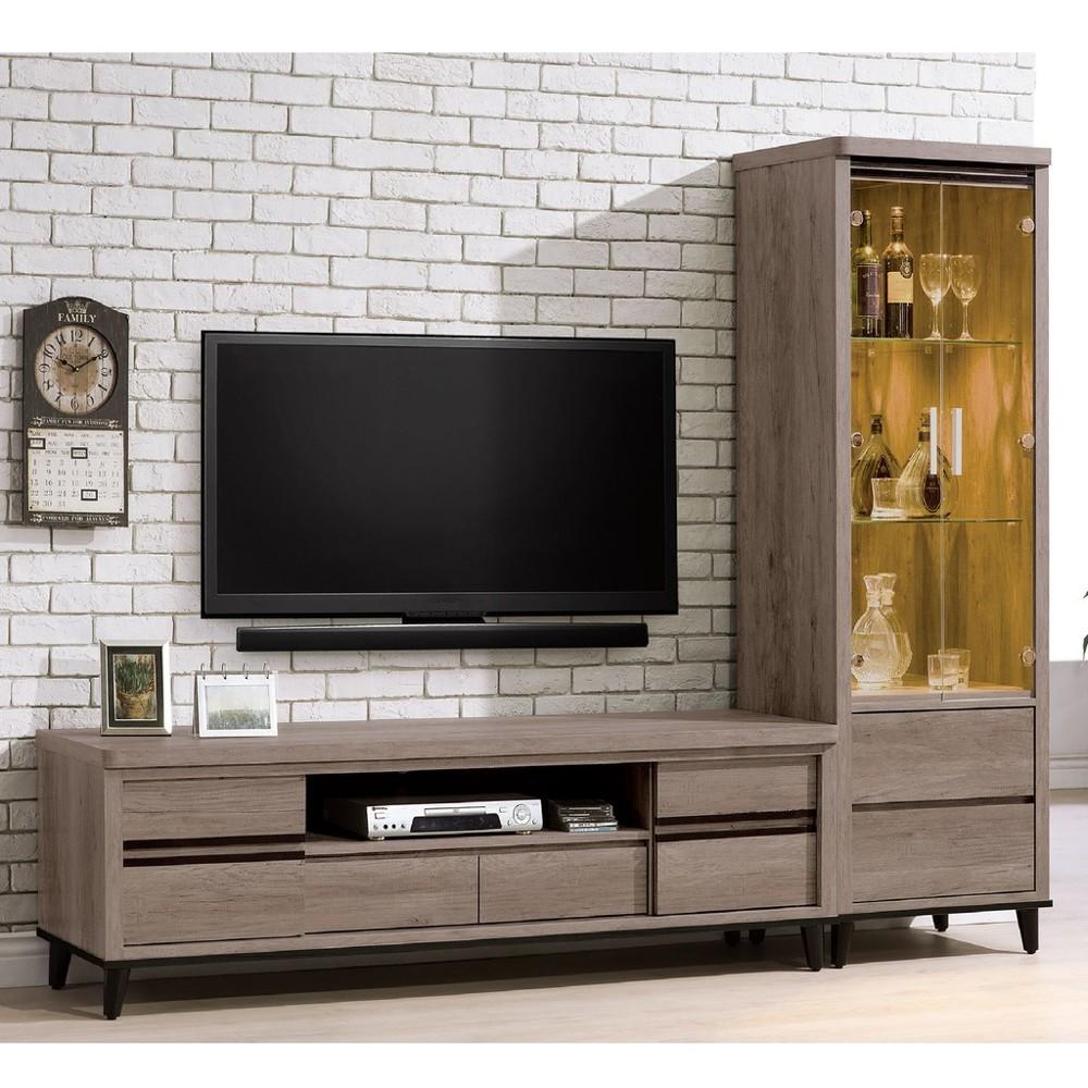 244cml型櫃-c708-1客廳組合長櫃 展示收納櫃 北歐工業風 tv櫃 金滿屋