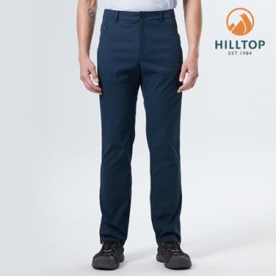 【hilltop山頂鳥】男款TORAY超潑水抗UV長褲S07ME0藍